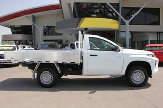 2018 Mitsubishi Triton MR MY19 GLX White 5 Speed Manual Cab Chassis