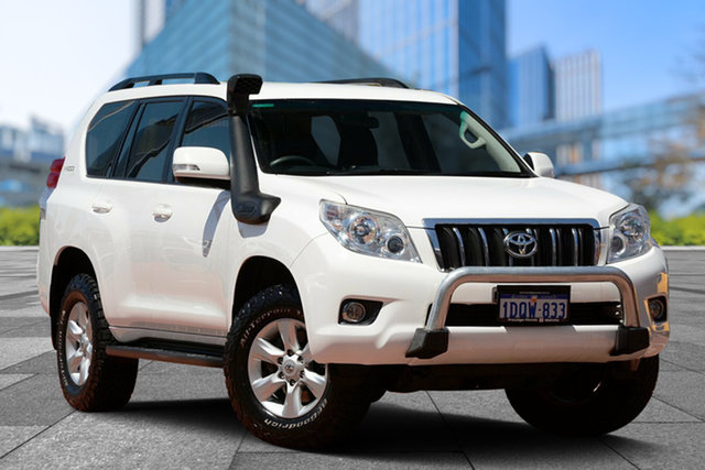 Used Toyota Landcruiser Prado KDJ150R GXL, 2011 Toyota Landcruiser Prado KDJ150R GXL White 5 Speed Sports Automatic Wagon