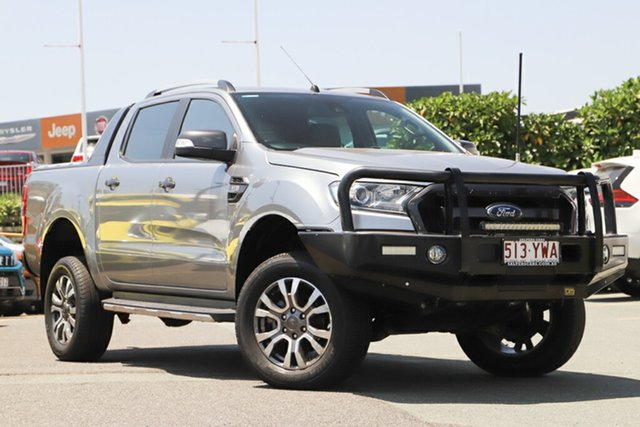 Used Ford Ranger PX MkII Wildtrak Double Cab, 2016 Ford Ranger PX MkII Wildtrak Double Cab Silver 6 Speed Sports Automatic Utility