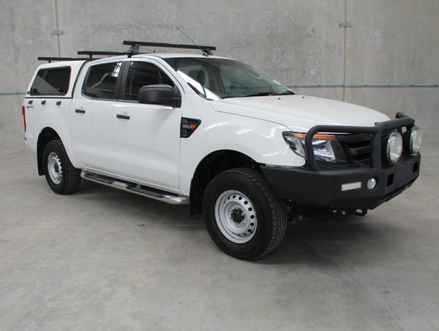 Used Ford Ranger PX XL Double Cab 4x2 Hi-Rider, 2014 Ford Ranger PX XL Double Cab 4x2 Hi-Rider White 6 speed Automatic Utility