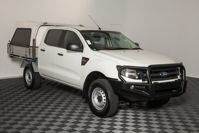 Used Ford Ranger PX XL Double Cab, 2015 Ford Ranger PX XL Double Cab White 6 speed Automatic Cab Chassis