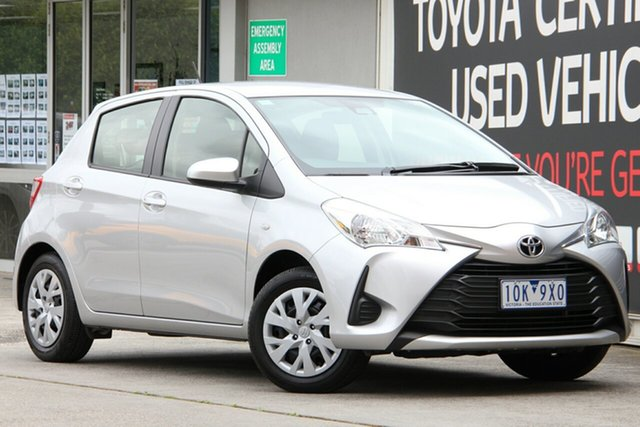 Used Toyota Yaris NCP130R Ascent, 2018 Toyota Yaris NCP130R Ascent Silver Pearl 4 Speed Automatic Hatchback