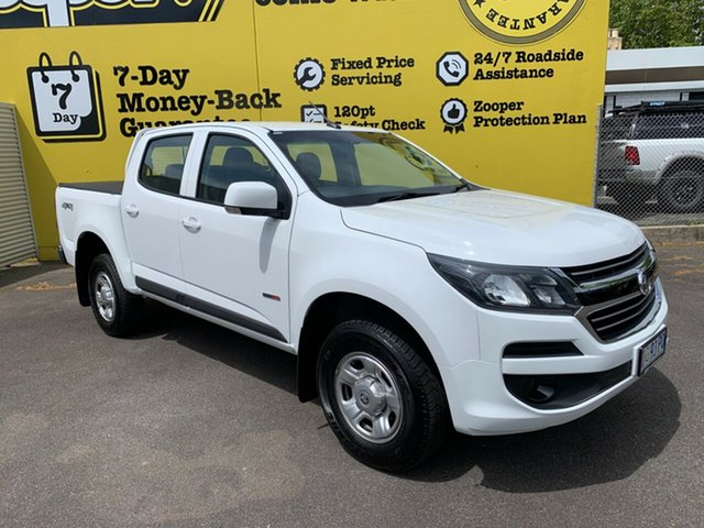 Used Holden Colorado RG MY18 LS Pickup Crew Cab, 2017 Holden Colorado RG MY18 LS Pickup Crew Cab White 6 Speed Sports Automatic Utility