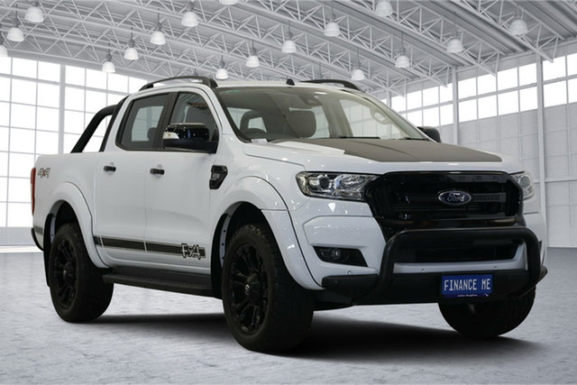 Used Ford Ranger PX MkII 2018.00MY FX4 Double Cab, 2018 Ford Ranger PX MkII 2018.00MY FX4 Double Cab White 6 Speed Sports Automatic Utility