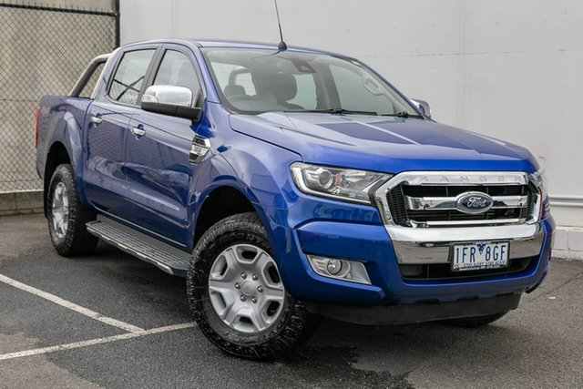 Used Ford Ranger PX MkII XLT Double Cab, 2015 Ford Ranger PX MkII XLT Double Cab Blue 6 Speed Manual Utility