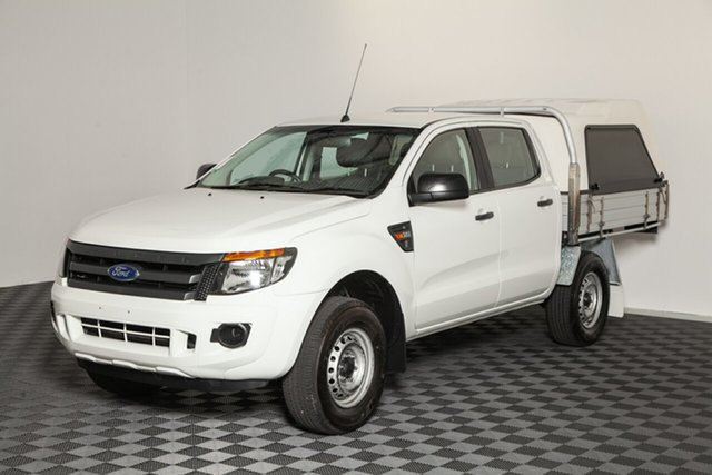 Used Ford Ranger PX XL Double Cab, 2015 Ford Ranger PX XL Double Cab White 6 Speed Manual Cab Chassis