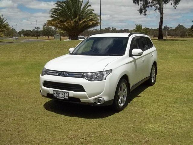 Used Mitsubishi Outlander ZJ MY14 LS 4WD, 2013 Mitsubishi Outlander ZJ MY14 LS 4WD White 6 Speed Constant Variable Wagon