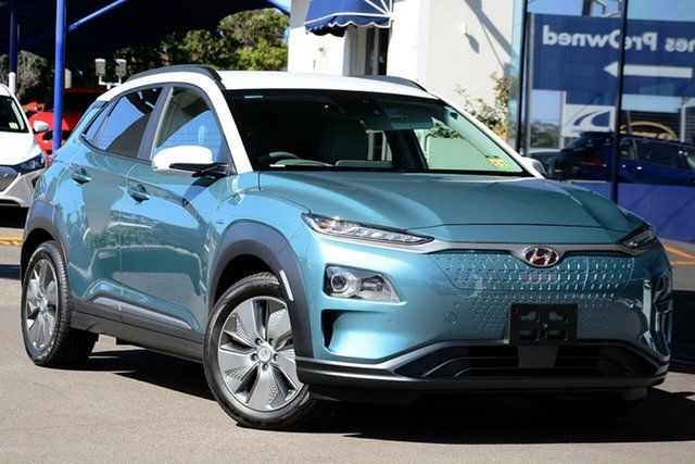 New Hyundai Kona OS.3 MY19 electric Highlander, 2019 Hyundai Kona OS.3 MY19 electric Highlander Ceramic Blue & Chalk White Roof 1 Speed
