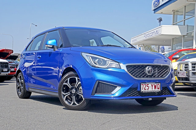 Used MG MG3 SZP1 MY18 Excite, 2018 MG MG3 SZP1 MY18 Excite Blue 4 Speed Automatic Hatchback