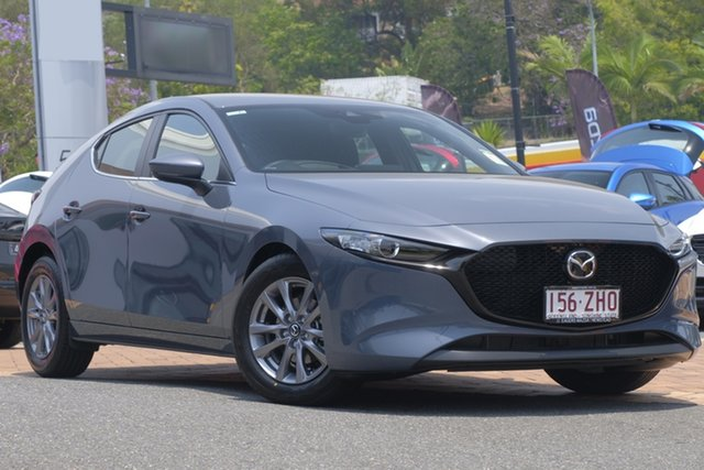 Demo Mazda 3 BP2H7A G20 SKYACTIV-Drive Pure, 2019 Mazda 3 BP2H7A G20 SKYACTIV-Drive Pure Polymetal Grey 6 Speed Sports Automatic Hatchback