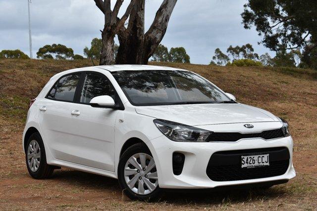 Demo Kia Rio YB MY20 S, 2019 Kia Rio YB MY20 S Clear White 4 Speed Sports Automatic Hatchback