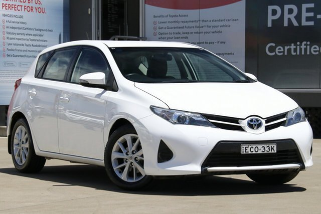 Used Toyota Corolla ZRE182R Ascent, 2013 Toyota Corolla ZRE182R Ascent Glacier White 7 Speed CVT Auto Sequential Hatchback