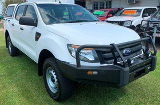 2014 Ford Ranger PX XL Double Cab White 6 Speed Manual Utility.