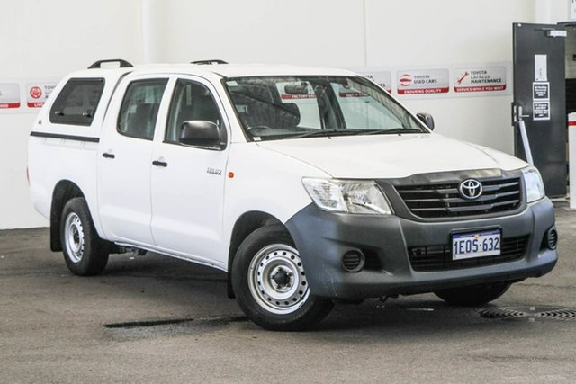 Used Toyota Hilux TGN16R MY14 Workmate, 2014 Toyota Hilux TGN16R MY14 Workmate Glacier White 4 Speed Automatic Dual Cab Pick-up