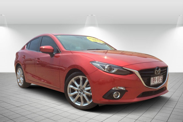 Used Mazda 3 BM5238 SP25 SKYACTIV-Drive Astina, 2014 Mazda 3 BM5238 SP25 SKYACTIV-Drive Astina Red 6 Speed Sports Automatic Sedan