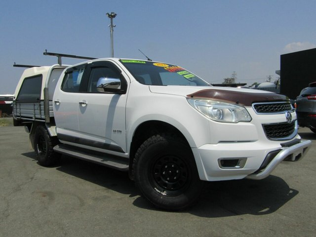 Used Holden Colorado RG LTZ Thunder (4x4), 2013 Holden Colorado RG LTZ Thunder (4x4) White 6 Speed Automatic Crew Cab Pickup
