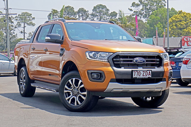 Used Ford Ranger PX MkIII 2019.00MY Wildtrak Pick-up Double Cab, 2018 Ford Ranger PX MkIII 2019.00MY Wildtrak Pick-up Double Cab Saber 10 Speed Sports Automatic