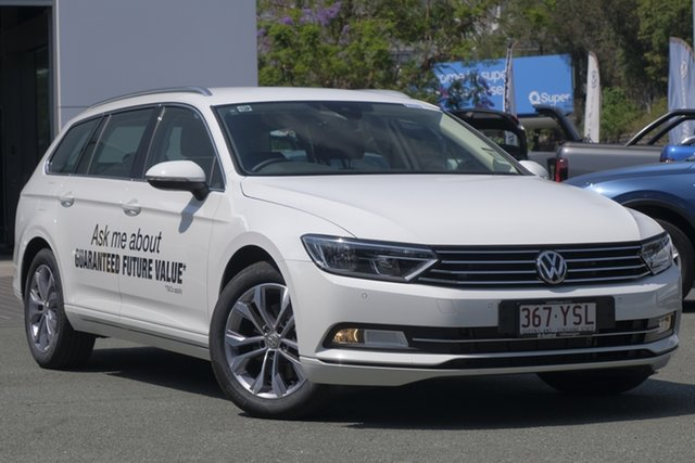 Demo Volkswagen Passat 3C (B8) MY19 132TSI DSG, 2018 Volkswagen Passat 3C (B8) MY19 132TSI DSG Pure White 7 Speed Sports Automatic Dual Clutch Wagon