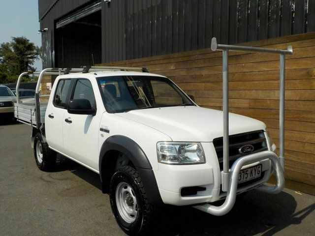 Used Ford Ranger PJ XL Crew Cab, 2008 Ford Ranger PJ XL Crew Cab White 5 Speed Manual Cab Chassis