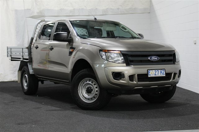 Used Ford Ranger PX XL Double Cab, 2015 Ford Ranger PX XL Double Cab Bronze 6 Speed Manual Cab Chassis