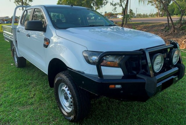 Used Ford Ranger PX MkII 2018.00MY XL Double Cab, 2017 Ford Ranger PX MkII 2018.00MY XL Double Cab White 6 Speed Sports Automatic Cab Chassis