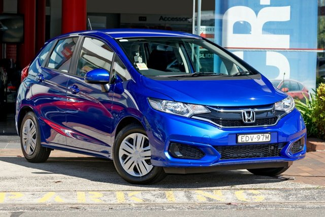 Demo Honda Jazz GF MY20 VTi, 2019 Honda Jazz GF MY20 VTi Brilliant Sporty Blue 1 Speed Constant Variable Hatchback