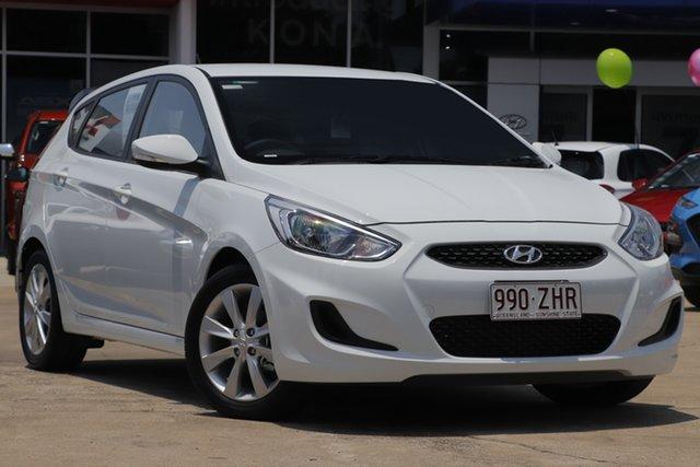 Demo Hyundai Accent RB6 MY19 Sport, 2019 Hyundai Accent RB6 MY19 Sport Chalk White 6 Speed Sports Automatic Hatchback