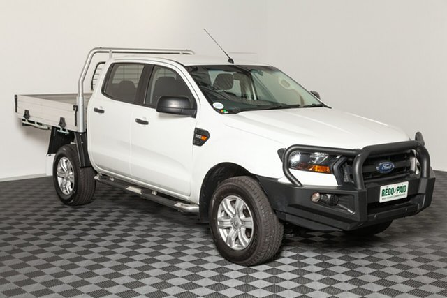 Used Ford Ranger PX MkII XL Double Cab, 2015 Ford Ranger PX MkII XL Double Cab White 6 speed Automatic Cab Chassis