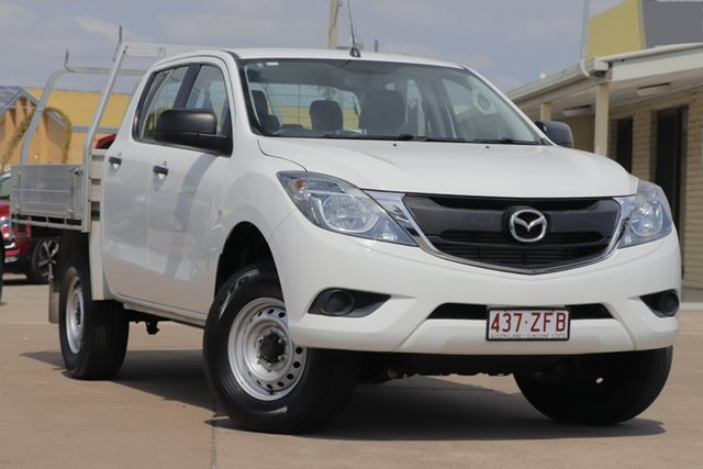 Used Mazda BT-50 UR0YG1 XT Freestyle 4x2 Hi-Rider, 2016 Mazda BT-50 UR0YG1 XT Freestyle 4x2 Hi-Rider White 6 Speed Manual Cab Chassis