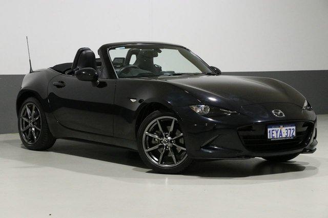 Used Mazda MX-5 K GT, 2015 Mazda MX-5 K GT Black 6 Speed Automatic Roadster