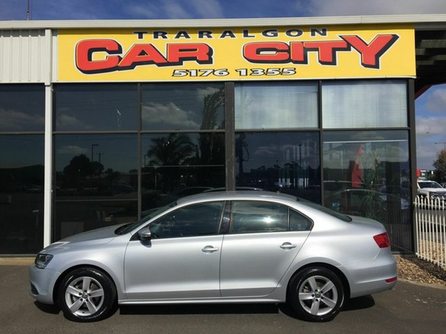 Used Volkswagen Jetta 1KM MY12 103 TDI Comfortline, 2011 Volkswagen Jetta 1KM MY12 103 TDI Comfortline Silver 6 Speed Direct Shift Sedan