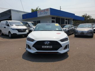 2019 Hyundai Veloster JS MY20 Turbo Coupe D-CT Premium Chalk White 7 Speed.