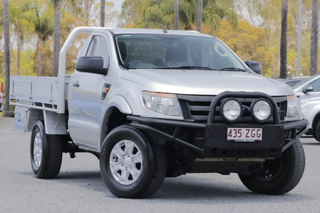 Used Ford Ranger PX XL, 2014 Ford Ranger PX XL Silver 6 Speed Manual Cab Chassis