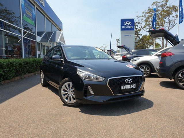 Demo Hyundai i30 PD MY19 Go D-CT, 2018 Hyundai i30 PD MY19 Go D-CT Phantom Black 7 Speed Sports Automatic Dual Clutch Hatchback