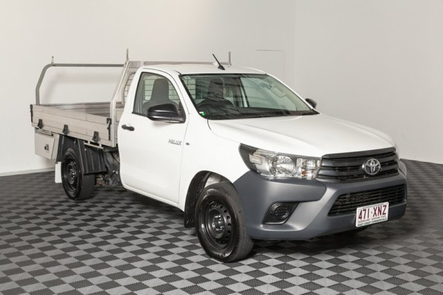 Used Toyota Hilux TGN121R Workmate 4x2, 2017 Toyota Hilux TGN121R Workmate 4x2 French Vanilla 5 speed Manual Cab Chassis