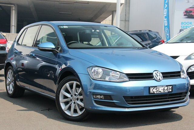 Used Volkswagen Golf VII MY14 110TDI DSG Highline, 2014 Volkswagen Golf VII MY14 110TDI DSG Highline Blue 6 Speed Sports Automatic Dual Clutch