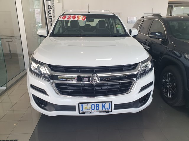 Demo Holden Colorado RG MY20 LS Crew Cab, 2019 Holden Colorado RG MY20 LS Crew Cab Summit White 6 Speed Manual Cab Chassis