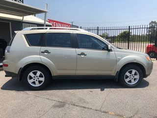 2008 Mitsubishi Outlander ZG MY08 LS Gold 6 Speed CVT Auto Sequential Wagon.
