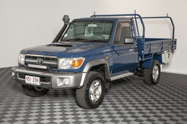 Used Toyota Landcruiser VDJ79R MY10 GXL, 2010 Toyota Landcruiser VDJ79R MY10 GXL Blue 5 speed Manual Cab Chassis