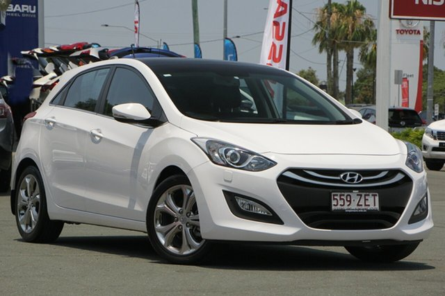 Used Hyundai i30 GD MY14 Premium, 2014 Hyundai i30 GD MY14 Premium White 6 Speed Sports Automatic Hatchback