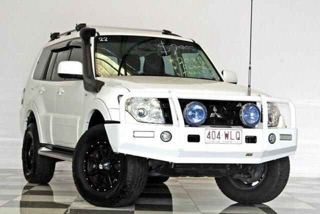 Used Mitsubishi Pajero NW MY14 GLX-R LWB (4x4), 2013 Mitsubishi Pajero NW MY14 GLX-R LWB (4x4) White 5 Speed Auto Sports Mode Wagon