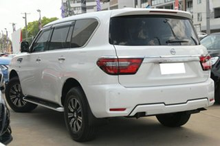 2021 Nissan Patrol Y62 MY21 TI Moonstone White 7 Speed Sports Automatic Wagon.