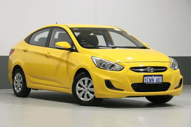 Used Hyundai Accent RB2 Active, 2015 Hyundai Accent RB2 Active Yellow 4 Speed Automatic Sedan