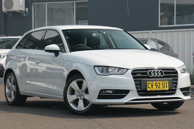 Used Audi A3 8V Ambition Sportback S Tronic Quattro, 2013 Audi A3 8V Ambition Sportback S Tronic Quattro White 6 Speed Sports Automatic Dual Clutch