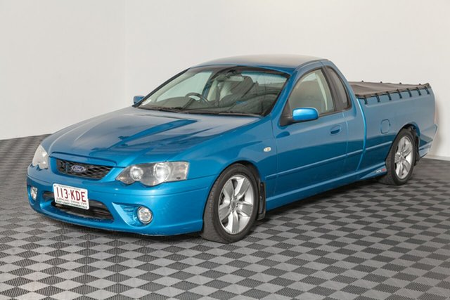 Used Ford Falcon BF Mk II XR8 Ute Super Cab, 2007 Ford Falcon BF Mk II XR8 Ute Super Cab Neo Blue 6 speed Automatic Utility