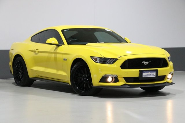 Used Ford Mustang FM MY17 Fastback GT 5.0 V8, 2017 Ford Mustang FM MY17 Fastback GT 5.0 V8 Triple Yellow 6 Speed Manual Coupe
