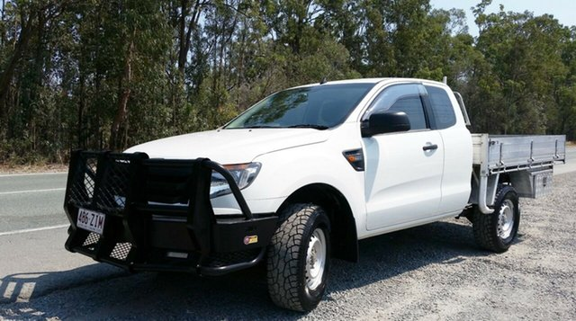 Used Ford Ranger PX XL Super Cab 4x2 Hi-Rider, 2011 Ford Ranger PX XL Super Cab 4x2 Hi-Rider White 6 Speed Sports Automatic Cab Chassis