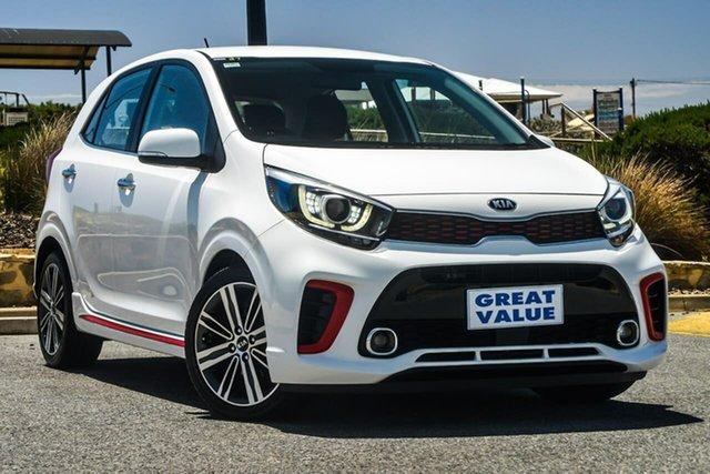 Used Kia Picanto JA GT-Line, 2018 Kia Picanto JA GT-Line White 4 Speed Automatic Hatchback