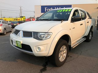 2012 Mitsubishi Triton MN MY12 GL-R White 4 Speed Automatic Double Cab Utility