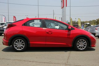 2014 Honda Civic 9th Gen MY14 VTi-S Red 5 Speed Sports Automatic Hatchback
